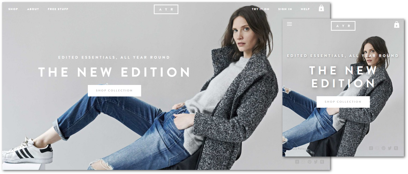 Fashion eCommerce Responsive Design