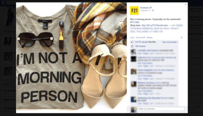 Forever 21 Facebook Hashtag