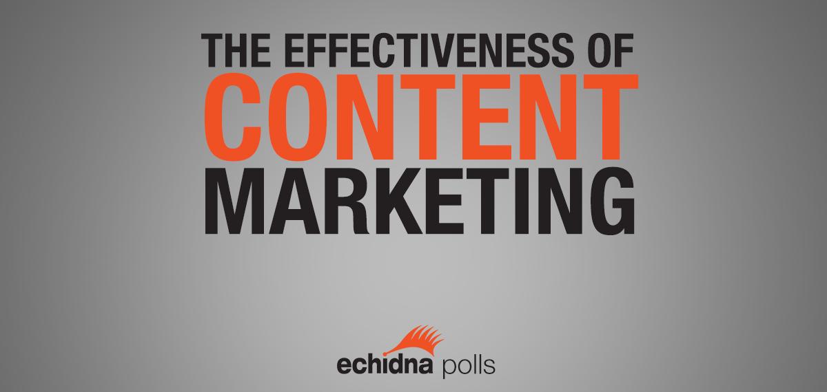 Effectiveness of Content Marketing 2014