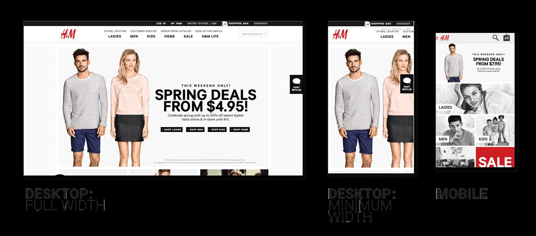 H&M Website Responsiveness