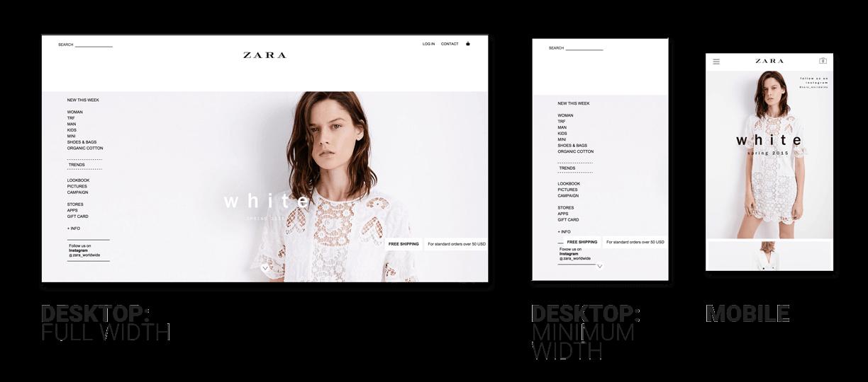 Zara Website Responsiveness